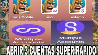 Como Abrir 3 Cuentas De Lords Mobile Super RAPIDO - CONSEJOS Y MAS -TRUCOS LORDS MOBILE