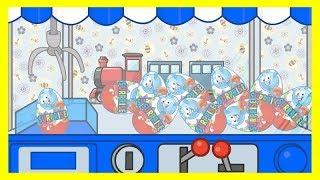 Синий трактор едет и везет сюрпризы Маша и Медведь Мультик про машинки для мальчиков