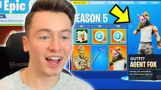 SEASON 5 IST DA !! BATTLE PASS KAUFEN + V-BUCKS VERLOSUNG ! Fortnite