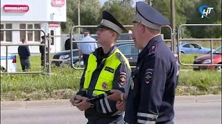У Колмовского моста прошел рейд по автомобилистам-должникам