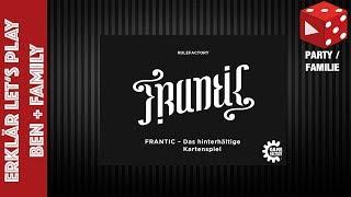 Frantic - Das hinterhältige Kartenspiel - Erklär-Let's Play Ben + Family