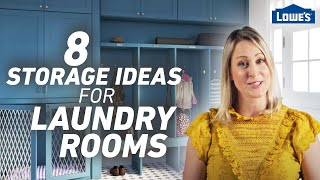 8 Storage Ideas For Laundry Rooms And Mudrooms /// Lowes Design Basics