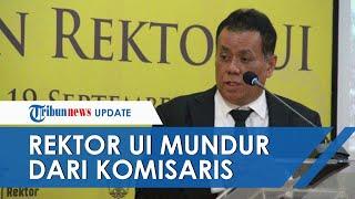 Rektor UI Ari Kuncoro Mengundurkan Diri dari Jabatan Komisaris BUMN, Fahri Hamzah: Tolong Diam Ya