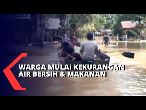 banjir di kampung marobo warga krisis air bersih dan bahan makanan