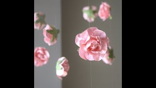 DIY Hanging Flower Garland | Cheap & Easy Wedding Decorations | Wedding Flower Backdrop Wall