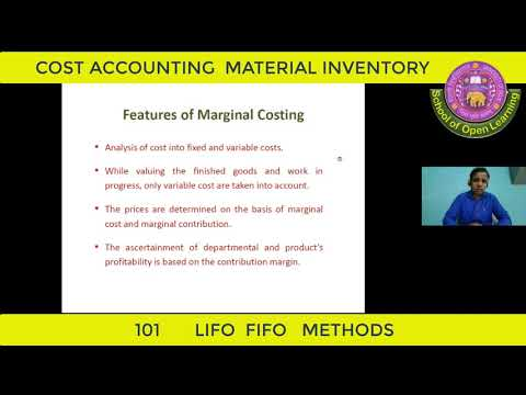 COST ACCOUNTING C-101 MATERIAL INVENTORY LIFO, FIFO METHODS By - AJAY GARG