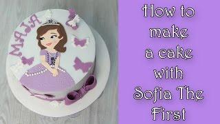How to make Sofia the First cake / Jak zrobić tort z księżniczką Zosią