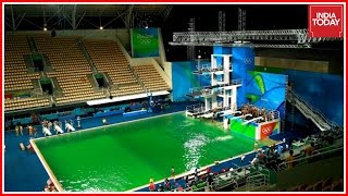 Diving Pools Turns Green At Rio Olympics