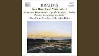 F. Schubert - 20 Landler, Anh. Ia/6 (arr. for piano 4 hands) : Landler No. 17.