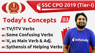 6:00 PM - SSC CPO 2019 (Tier-I) | English by Harsh Sir | Basics of Verb (Part-2)