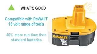 Dewalt DC9096-2 18 volt XRP battery pack review