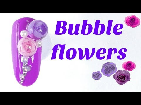 3D Bubble flowers ? Spring nail tutorial | Candy ball