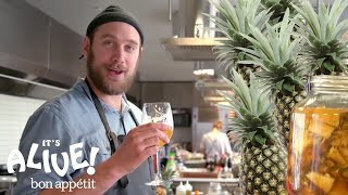 Brad Makes a Fermented Mexican Pineapple Drink (Tepache) | It's Alive | Bon Appétit - dooclip.me