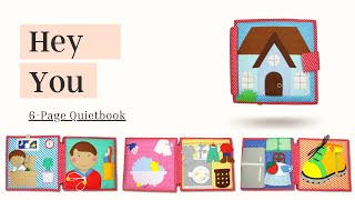 Hey You - 6 Pages Quietbook | Activity | Sensory | Educational Books for Ki