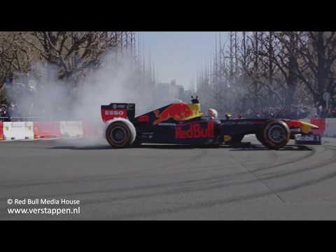 Action Clip: Max Verstappen & Pierre Gasly - Red Bull showrun in Tokyo, Japan