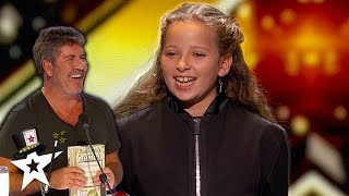 Issy Simpson Gets Simon Cowell Laughing With Magic on AGT Champions  | Magicians Got Talent