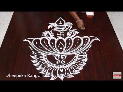 rangoli design varalakshmi virtham special by dheepika