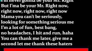 Pitbull Ft. Akon - Mr. Right Now Lyrics