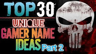 Top 30 Unique Gamer Name Ideas || Cool & Unique names for #FREEFIRE and #pubg || #AxomGamer