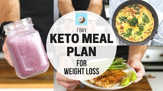 KETO DIET Meal Plan - 7 DAY FULL MEAL PLAN for WEIGHT LOSS