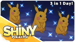 3 Live Shiny Pikachu Reactions! All in the same day!