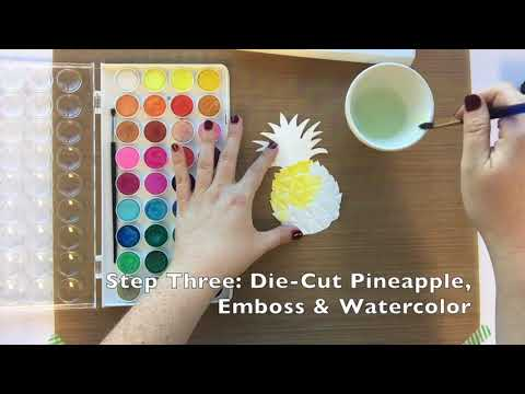 DIY For You Pineapple Card | Sizzix
