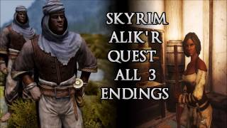 Skyrim Remastered: Alik'r Quest All 3 Endings (Betraying Saadia, Killing Kematu,