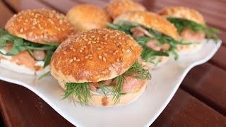 Recette Facile Et Rapide : Mini Hamburgers Au Saumon وصفة سهلة و سريعة : طريقة عمل برغر سمك السلمون