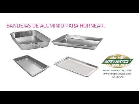 ~Bandejas de aluminio para hornear - ECUADOR