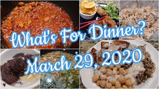 What's For Dinner?  March 29, 2020   Cooking for Two   Pantry Meals   Hot Dog Chili