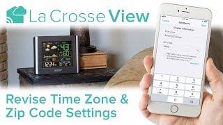 La Crosse View - Time Zone & Zip Code Settings