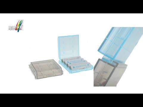 Kaiser Akkubox-Set für 8 Akkus/Batterien AA bzw. AAA
