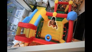 We put a MASSIVE BOUNCE HOUSE in our LIVING ROOM!!   VLOGMAS DAY 14