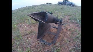 testing my harpoon cannon for hog hunting