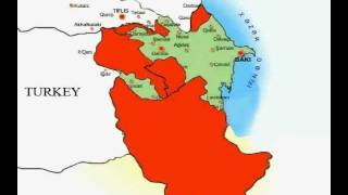 preview picture of video 'Over the Years 1500 - 1827 Azerbaijan map, Azerbaijan map, اراضی آذربایجان'