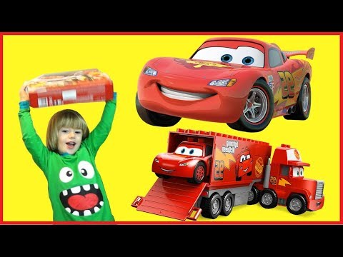 LighTning McQueen Crazy CraSh At Home - 100+ Cars Toys Giant Egg Surprise Opening Crash