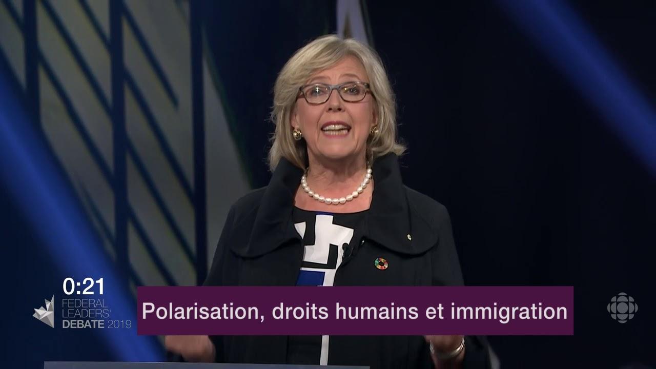 Elizabeth May répond à la question d'un citoyen sur les divisions au Canada