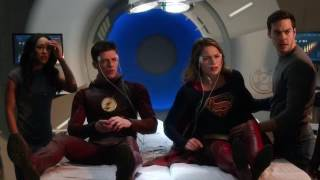 Iris and Mon-El Save Barry and Kara | The Flash 3x17 Musical Crossover
