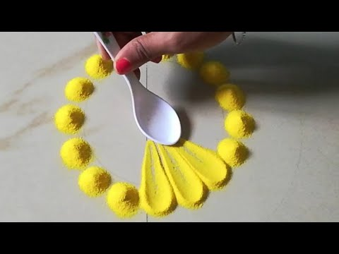 simple rangoli design using fork by ks kitchen and lifestyle