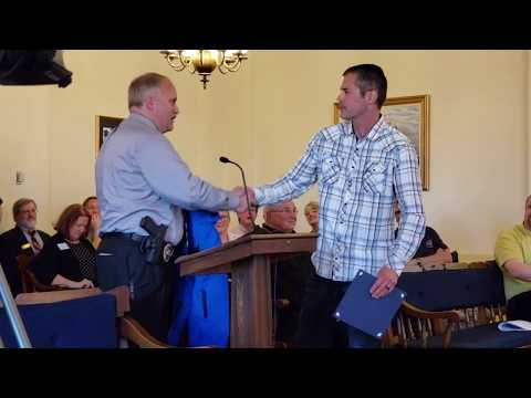 Video: Grand Haven DPS officer recognized for 2 decades of service