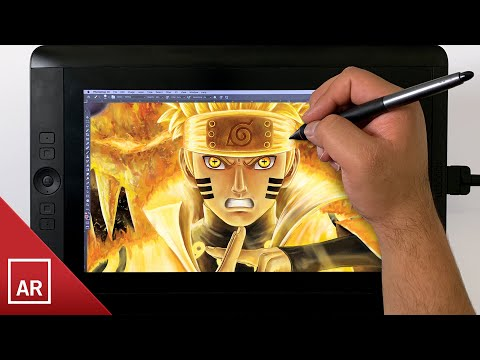 Naruto Six Paths Sage Mode Digital Drawing - Speed Paint
