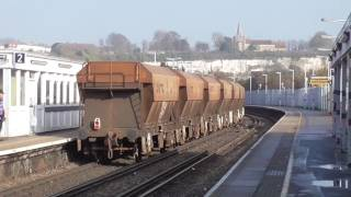 Trains at various stations in Kent 13/02/17