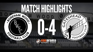 HIGHLIGHTS: Watch the action from Gateshead's 40 victory at Boreham Wood on Saturday