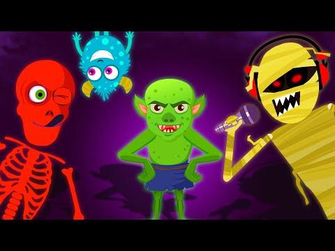 Midnight Magic - Five Crazy Skeletons Jumping   Funny Adventures Finger Family Song   Skeleton Dance