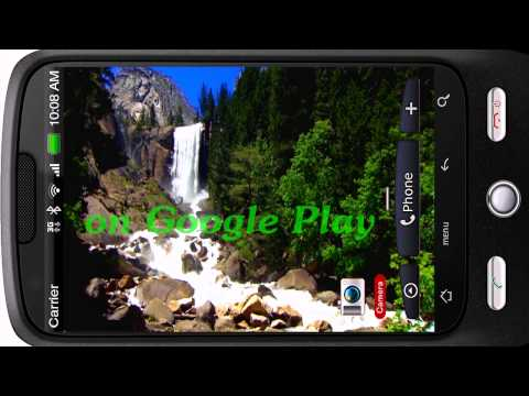 Video of 3D Nice Tall Waterfall Free