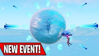 NEW ICE SPHERE KING EVENT IN FORTNITE! (New Season 7 Villian Pog)