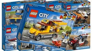 !!New all Lego city 2017 sets!!Pizza truck!!Dragster!!Construction site!!Dune buggy!!