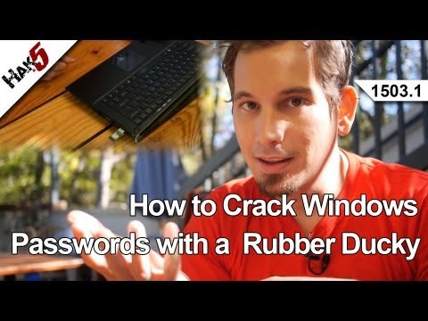 How to Crack Windows Passwords with a  Rubber Ducky, Hak5 1503.1