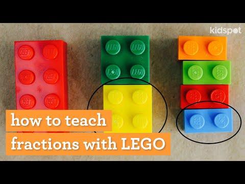 Screenshot of video: Lego Fractions