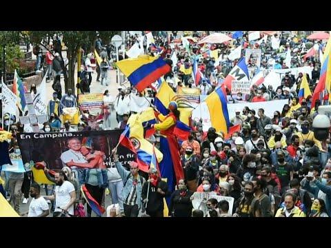 Colombie: à Bogota, les manifestants à nouveau dans la rue   AFP Colombie: à Bogota, les manifestants à nouveau dans la rue   AFP